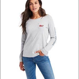 VineYard Vines Long Sleeve T-Shirt Polo Size S